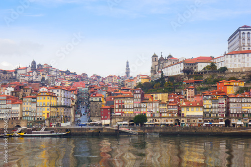 old  Oporto on Douro bank, Portugal