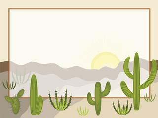 Desert frame