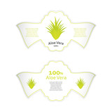 aloe vera labels with special design