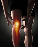 Man knee pain concept