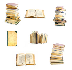 Old books collage