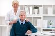 Old men with nurse