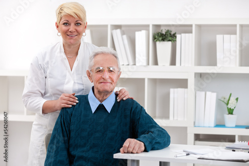 Old men with nurse