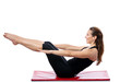Woman doing Pilates training
