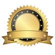 Vorlage Button mit Banner Gold