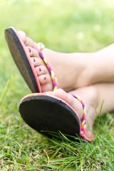Füße mit Flip Flops