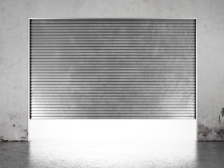 Spotlight illuminate of  roller shutter door