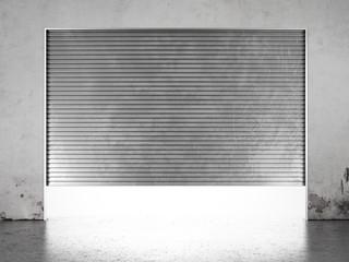 Spotlight illuminate of  roller shutter door