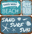 Beach Tin Signs Collection