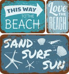 Beach Tin Signs Collection