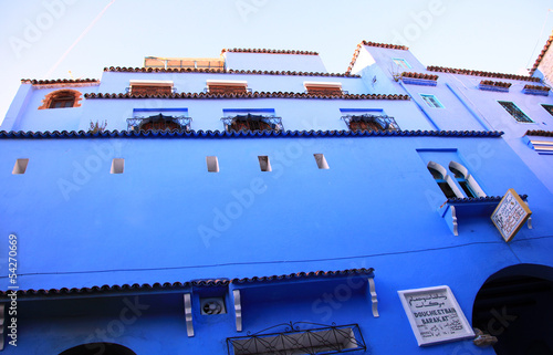 Architectural detail of the city, blue town Chefchaouen, Morocco