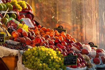 Grocery fruit stall
