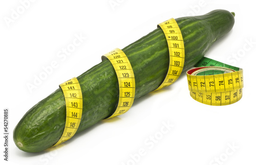 cubumber wrapped in a tape measure