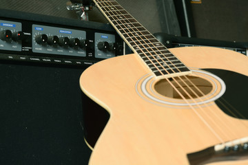 guitar and amplifier control