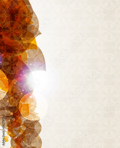 Beige background with petals pattern