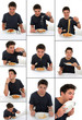 Collage - Spaghetti essen