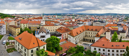 Panorama of Brno, Czech Republic