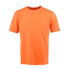 Orange T-shirt on a white background