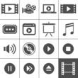 Video and cinema icon set