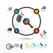 Abstract circle infographic Design Minimal  style  template / ca