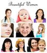 Collage of women portrait