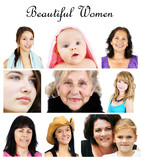 Collage of women portrait