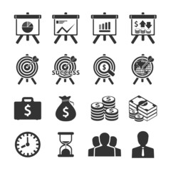 Business and financial Icons set. Vector illustration.