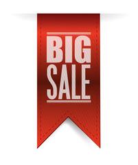 big sale red banner illustration design