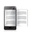 ebook reader. smartphone illustration design