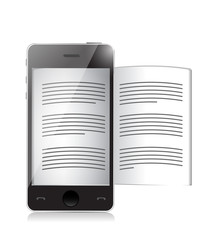 ebook reader. smartphone illustration design