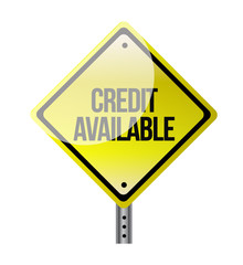 credit available road sign illustration design