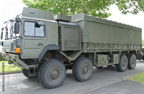 A Large Heavy Duty Military Transport Lorry Truck.