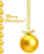 Beautiful Christmas balls, isolated on white