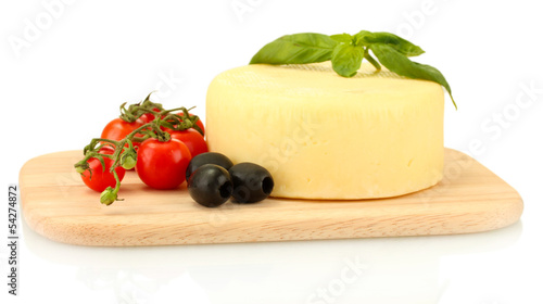 cheese mozzarella with vegetables
