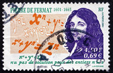 Postage stamp France 2001 Pierre de Fermat, Mathematician poster
