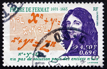 Postage stamp France 2001 Pierre de Fermat, Mathematician