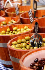 Market with olives