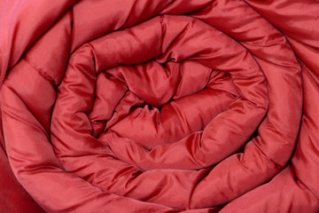 sleeping bag wrapped red texture
