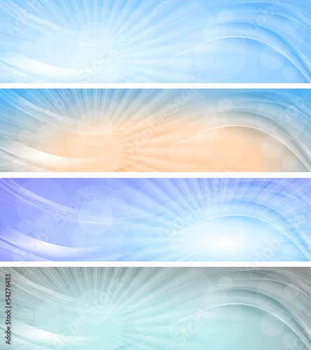 Abstract vector sky banners.