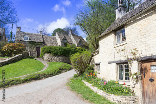 Old Cottages, Bibury,, Gloucestershire, Cotswolds, UK