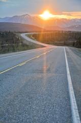 Sunrise at Denali national park (Alaska)