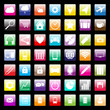 Colorful icons for mobile and web