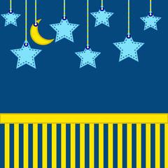 Night stars and moon backfround