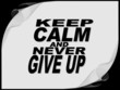 Keep calm - motivational phrase