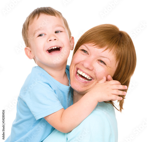 Portrait of a happy mother with her son
