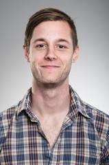 Young Caucasian Man Expression Portrait