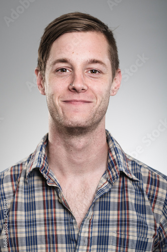 Young Caucasian Man Expression Portrait