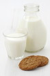 Fresh milk and oatmeal cookies