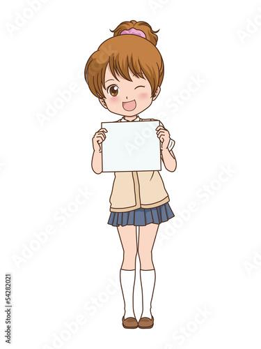 女の子/メッセージ