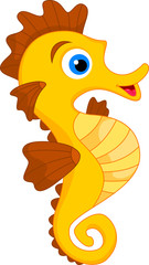 Cute Seahorse Cartoon